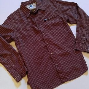 North Face long sleeve button shirt M